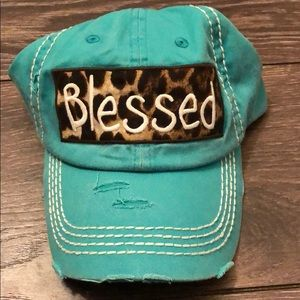 New Distressed Blessed hat